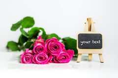 Fond de roses de jour de femme Image stock