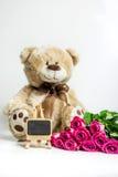 Fond de roses de jour de femme Photo libre de droits