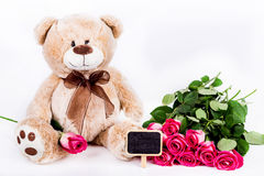 Fond de roses de jour de femme Photographie stock