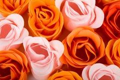 Fond de roses de mousse de savon Photo stock