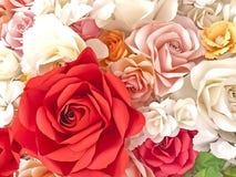 Fond de roses pour le jour du ` s de valentine Images libres de droits