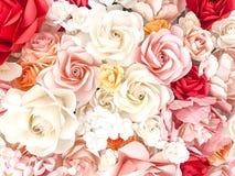 Fond de roses pour le jour du ` s de valentine Photos libres de droits