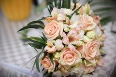 Fond de roses roses et blanches, profondeur de champ Images libres de droits