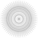 Fond de rosette de guilloche, texture illustration stock
