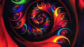 Fond de rotation de vortex rouge de fractale illustration de vecteur