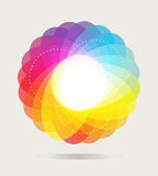 Fond de roue de couleur Photos stock