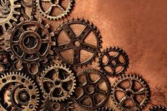 Fond de roues de vitesse en métal Photo stock