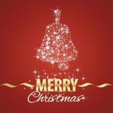Fond de rouge de chimères de symbole de cloche de Noël Images stock