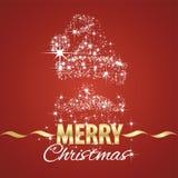 Fond de rouge de chimères de symbole de Santa Claus de Noël Photo libre de droits