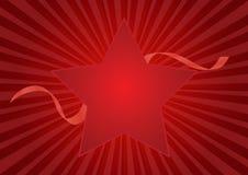 Fond de rouge d'étoile illustration stock