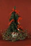 Fond de rouge d'arbre de Noël Photos libres de droits