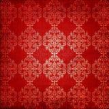 Fond de rouge d'ornement de cru photographie stock