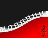Fond de rouge de clavier de piano Photographie stock
