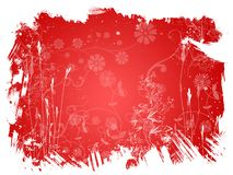 Fond de rouge de fleur Images stock