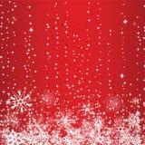 Fond de rouge de l'hiver Image libre de droits
