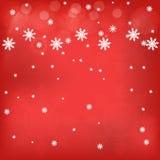 Fond de rouge de l'hiver Illustration Stock
