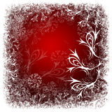 Fond de rouge de l'hiver images stock