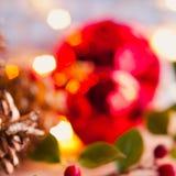 Fond de rouge de Noël Images stock