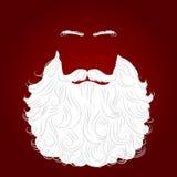 Fond de rouge de Santa de barbe Images libres de droits