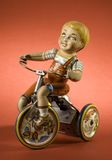 Fond de rouge du jouet II de garçon Images libres de droits