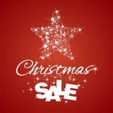 Fond de rouge de remise de vente d'étoile de Noël Image libre de droits