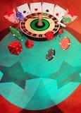 Fond de roulette Photos libres de droits