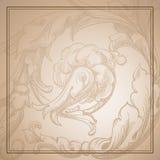 Fond de sépia illustration de vecteur