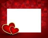 Fond de Saint-Valentin avec la carte Images libres de droits