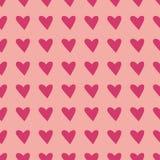 Fond de Saint Valentin avec le coeur de texture pour la bannière de Web, papier de pacage, carte de voeux Modèle géométrique de v Image stock
