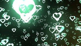 Fond de Saint-Valentin, coeurs abstraits en baisse illustration de vecteur