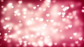 Fond de Saint-Valentin, coeurs abstraits volants illustration de vecteur
