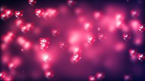 Fond de Saint-Valentin, coeurs abstraits volants illustration libre de droits