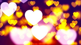 Fond de Saint-Valentin, coeurs abstraits volants et particules illustration de vecteur