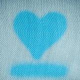 Fond de Saint-Valentin. Conception de forme de coeur sur la toile bleue Image stock