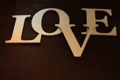 Fond de Saint Valentin et de Noël Amour en bois d'inscription de vintage Composition de l'inscription au jour du ` s de Valentine Images libres de droits