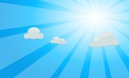 Fond de saison bleue de faisceau lumineux de vecteur d'été beau Photo libre de droits