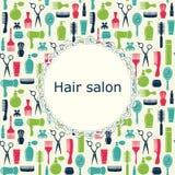 Fond de salon de coiffure avec l'endroit pour le texte Photographie stock