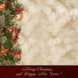 Fond de salutation de Noël illustration de vecteur