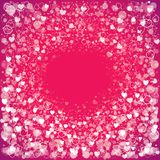 Fond de salutation de jour du ` s de Valentine avec des coeurs Images libres de droits
