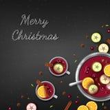 Fond de salutation de Joyeux Noël E illustration libre de droits