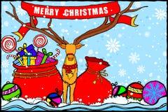 Fond de salutations de vacances de Joyeux Noël et de bonne année illustration libre de droits