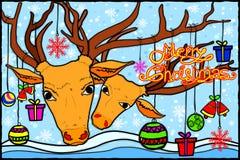 Fond de salutations de vacances de Joyeux Noël et de bonne année illustration stock