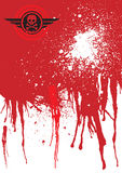 Fond de sang de crâne Photo libre de droits
