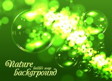 Fond de savon de bulle Image libre de droits