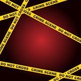 Fond de scène du crime Photos libres de droits