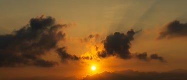 Fond de scène de lever de soleil ou de coucher du soleil images libres de droits