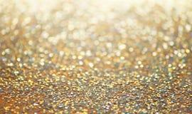 Fond de scintillement d'or Photo libre de droits