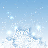 Fond de scintillement de flocon de neige de Noël Images libres de droits