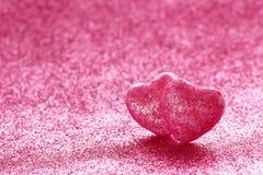 Fond de scintillement de jour du ` s de Valentine, deux coeurs Photo libre de droits