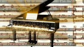 Fond de scintillement de mouvement de piano illustration libre de droits